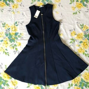 Bar III Fit and Flare Zip Front Dress